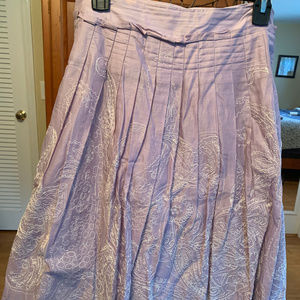 Lavender w/ Ecru embroidery Talbots skirt, sz 10